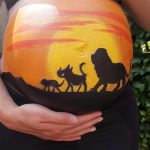 Belly Paint Lion King